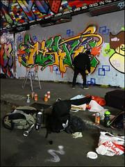 Nerk (Alex Ellison) Tags: urban graffiti boobs action workinprogress waterloo halloffame graff southlondon hof thetunnel nerk leakestreet nerkone