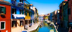 Burano Color (Pino Snorr) Tags: street italien blue venice sky italy sun white house black color love water clouds italia outdoor venezia venedig canale veneto ilovepizza borano