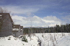 If you want to see the mountain you have to run through the snow (elisachris) Tags: schnee mountain snow berg landscape natur april landschaft ricohgr harz sachsenanhalt
