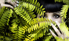 Hidden In Nature (Drinkone Photographer) Tags: park light portrait tree green nature girl look leaves mystery foglie outside eyes natural outdoor young natura hidden ritratto ragazza sedret