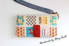 Iphone wallet / purse / wrislet (STORY QUILT) Tags: pattern handmade wallet sewing womens purse clutch tutorial zakka iphone wristlet