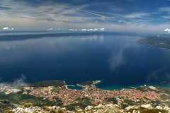 Makarska from Above (hapulcu) Tags: adria adriatic biokovo croacie croatia croatie croazia dalmacija dalmatia horvatorszag hrvatska jadran kroatien makarska mediterranean spring