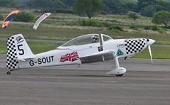 G-SOUT (goweravig) Tags: uk swansea wales aircraft vans visiting rv8 teamraven swanseaairport raven5 gsout