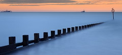 Aberdeen Beach (60 Second Exposure) (PeskyMesky) Tags: longexposure sunset sea mist beach sunrise canon scotland pov pointofview aberdeen le northsea bluehour northeastscotland aberdeenbeach canoneos500d