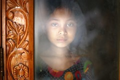 Haunt Me ! (N A Y E E M) Tags: portrait reflection home glass girl afternoon availablelight entrance yesterday bangladesh frontdoor fatima chittagong rabiarahmanlane