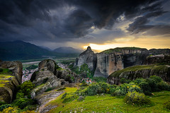 Balancing Chaos and Bliss (skorpios_) Tags: sunset sky mountain clouds landscape nikon rocks outdoor wide hellas greece suspended nikkor ultrawide meteora 1635 thessaly d810 wbpa nikond810 nikkor1635f4gedvr