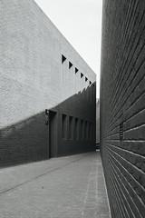 Sheakspeare Theatre, Gdask #1 (mmet95) Tags: white black lines architecture 35mm canon cityscape poland monochromatic minimal 5d minimalism leading gdask