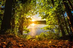 Sun-bounce at Crescent Lake, Southington, CT (crmanski) Tags: landscape crescentlake southingtonct
