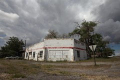 Dread. (Caroleyene) Tags: storm abandoned clouds utah ominous gasstation