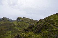 Among the Heather DSC_3854 (iloleo) Tags: green nature landscape scotland highlands view isleofskye cloudy heather scenic hills trail vista isolated trotternish nikond7000