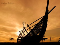 Argo ship Volos town (antonisgekas) Tags: sea cloud jason sunrise ship argo volos