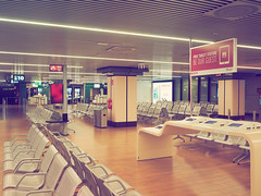 Rome Alone (Mario Feierstein) Tags: rome airport emptiness