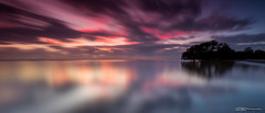 Nudgee Beach Sunrise (basketballfreak6) Tags: light sky panorama seascape colour beach nature clouds sunrise canon landscape long exposure australia brisbane nd queensland reverse grad cpl nisi nudgee singhray 5d3 1635lf4is