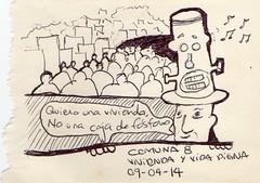 Comuna 8 - Medelln, Colombia (marcelavargasrojas) Tags: colombia medelln sketch lapicero