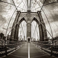 Brooklyn Bridge (Stefan K0n@th) Tags: nyc newyork manhattan eastriver peleng8mmf35 circularfisheye