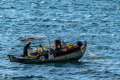 Human power 2 (Siminis) Tags: blue light sea seascape boat fisherman waves labor aegean sealife greece lesvos fishingboat gera fishingnets mytilene aegeansea seawaves humanpower gulfofgera lesvosisland siminis