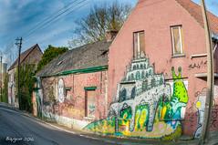 Want to move (ericbaygon) Tags: house brick abandoned home wall graffiti nikon paint belgium belgie decay tag snail dessin peinture abandon brique slug mur escargot doel flandre d300s nikonpasssion