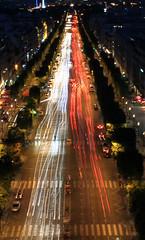 (Tom Roadcap) Tags: light paris france cars night speed de long exposure zoom arc triomphe trails shutter