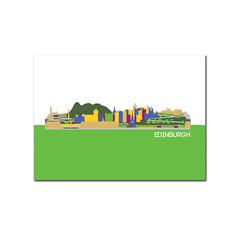 edinburgh postcard (rethinkthingsltd) Tags: city london skyline liverpool buildings bristol newcastle landscape manchester mugs design town birmingham edinburgh cityscape graphic postcard leeds badge postcards mug local badges iconic