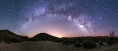 Panorama of the Milky Way over Canyon Sin Nombre in Anza-Borrego Desert State Park (slworking2) Tags: california us unitedstates desert nighttime astronomy anzaborrego ocotillo milkyway anzaborregodesertstatepark