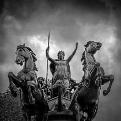 Boudicca (James Waghorn) Tags: summer england urban blackandwhite horse london westminster statue clouds ancient nikon warrior british chariot heroic westminsterbridge boudicca boadicea lr6 iceni d7100 silverefexpro2 sigma1750f28exdcoshsm