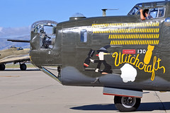 A DISTINCTIVE SNOUT (Rich Snyder--Jetarazzi Photography) Tags: california ca classic ga nose front consolidated mountainview bomber witchcraft liberator warbird snout b24 noseart moffettfield generalaviation nuq collingsfoundation b24j knuq moffettfederalairfield wingsoffreedomtour nx224j