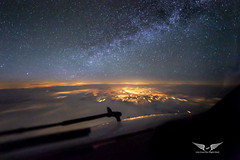 Milky Way at 36,000 feet (gc232) Tags: from city light cloud night clouds plane canon way airplane photography lights fly flying live 14 flight cities cockpit deck milky 000 f28 6d 1428 14mm iso10 samyang samyang14 golfcharlie232