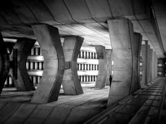 ...xillusione... (ines_maria) Tags: vienna wien city urban bw monochrome station architecture subway u2 escalator undergroud