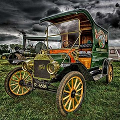 1912 Ford Model T Pie Van. (bainebiker) Tags: 1912fordmodeltvan hdr classicvan oldtimer vintage transport canonef24mmf14liiusm holbeach lincolnshire uk