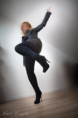 elle235 (Cuir Couple) Tags: leather bondage skirt bdsm master jacket jupe mistress veste leder matre pant pantalon cuero cuir hosen cravache maitresse martinet cuissardes