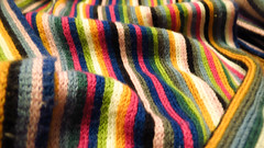 rainbow striped scarf (tam_and_john) Tags: abstract macro scarf soft bright stripes striped mondays rainbowcolors