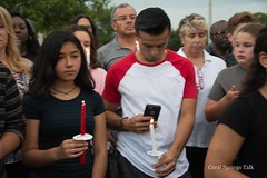 Students Holding Vigil in Remembrance of Orlando Shooting Victims (Coral Springs Talk) Tags: coral orlando massacre pray springs vigil victims charter