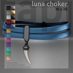 tapi :: luna choker (tapi :: original mesh) Tags: life tooth shark gothic suicide canine bondage tribal double bdsm strap second collar fang choker dollz opencollar rlv