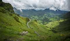 View, Puy Mary (xsgraphicdesign) Tags: road france mountains green nature rock clouds landscape
