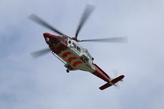 G-CILN (aitch tee) Tags: coastguard aircraft helicopter flythrough walesuk cardiffairport rotarywing agustawestland aw139 maesawyrcaerdydd cwlegff gciln