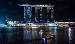 Singapore (ravalli1) Tags: singapore asia marinabay night city hotel skyline travel vacations 2016