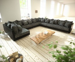 Wohnlandschaft Clovis XXL Schwarz Ottomane Rechts (delife2015) Tags: couch sofa modular modul wohnlandschaft designsofa eckcouch modulsofa