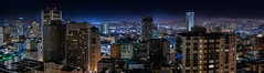 south city rooftops panorama (pbo31) Tags: sanfrancisco california city summer urban panorama black color june skyline night dark nikon view over large panoramic vista stitched nobhill 2016 boury d810