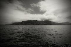 Mountainous Rum (Dafydd Penguin) Tags: rum small isles hebridean sea sotland west coast coastal black white blackandwhite blackwhite bw monochrome landscape cloud water island nikon d600 nikkor 20mm af f28d