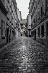 Gutemberggasse (ManuelHurtado) Tags: countries places ancient architecture austria austrian building capital construction europe european facade heritage historic historical history house landmark old pavement paving stonewet street tourism traditional travel urban vienna viennese wien at