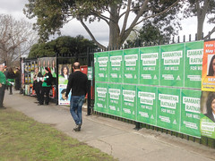 Wall of Greens: Polling day in Fawkner #Wills2016 #Ausvotes (John Englart (Takver)) Tags: election australia melbourne wills fawkner ausvotes ausvotes2016 wills2016