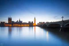 Time at Thames... (Charlie_Joe) Tags: unitedkingdom uk london bigben westminster parliament trails night longexposure bridge travel explore clouds canon reallyrightstuff cold winter reflection fstopgear britain scotland eu europeanunion england thames clock city cityscape architecture nightlife road yellow bluehour river time leefilters leebigstopper outdoor waterfront sky