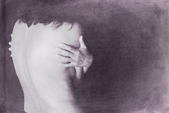 senza colore (chiara ...) Tags: bw woman texture back hands
