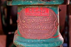 6HP McDonald Imperial Super Diesel Footpath Roller nameplate (outback traveller) Tags: historic signage seq