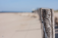 Life is better at the beach (Monika Kalczuga (v.busy)) Tags: beach fence landscape sand dof bokeh outdoor depthoffield