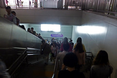 Buji Metro Station Rush Hour Shenzhen China (dcmaster) Tags: china city urban station train work underground subway asia metro chinese going rush hour shenzhen commuters buji mtr