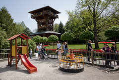 lookout tower and children's playground (gregork.) Tags: panorama spring maj mateja panoramio 2013 pomlad mozirje žiga mozirskigaj neža