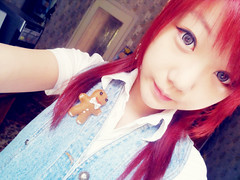 SKYLER'S (25) (LEECHINHWA l skyler) Tags: red cute girl beautiful hair doll pretty mask sweet russia gray korea korean lee kawaii spike uzbekistan chin skyler hwa pika lenses taki takumi bestface chinhwa ulzzang uljjang ohljjang leechinhwa