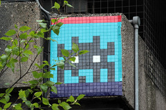 Space Invader (ilovemydooper) Tags: bridge urban streetart london eyes mosaictiles spaceinvader urbanart mirrored invader elephantandcastle invasionoflondon parisianstreetartist