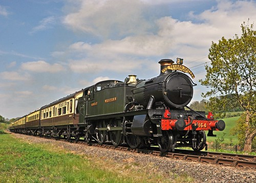 ex GWR Praire tank 5164 with the Severn Valley Limited dining train.